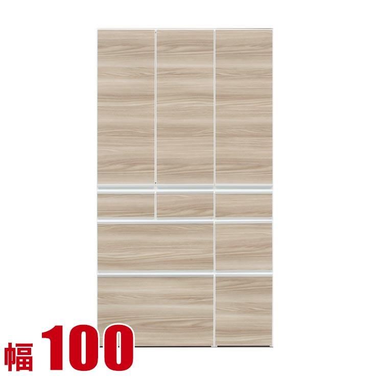 食器棚 収納 完成品 100 ダイニングボード ブラウン レガル 板扉 キッチンボード 幅100cm キッチン収納 キッチンキャビネット 完成品 日本製 送料無料