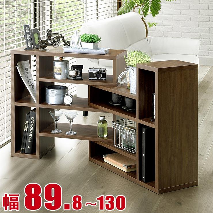 ★ 10 %OFF ★【送料無料/設置無料】 日本製 スライド式シェルフ ロータイプ スティック 幅89.8cm ブラウン