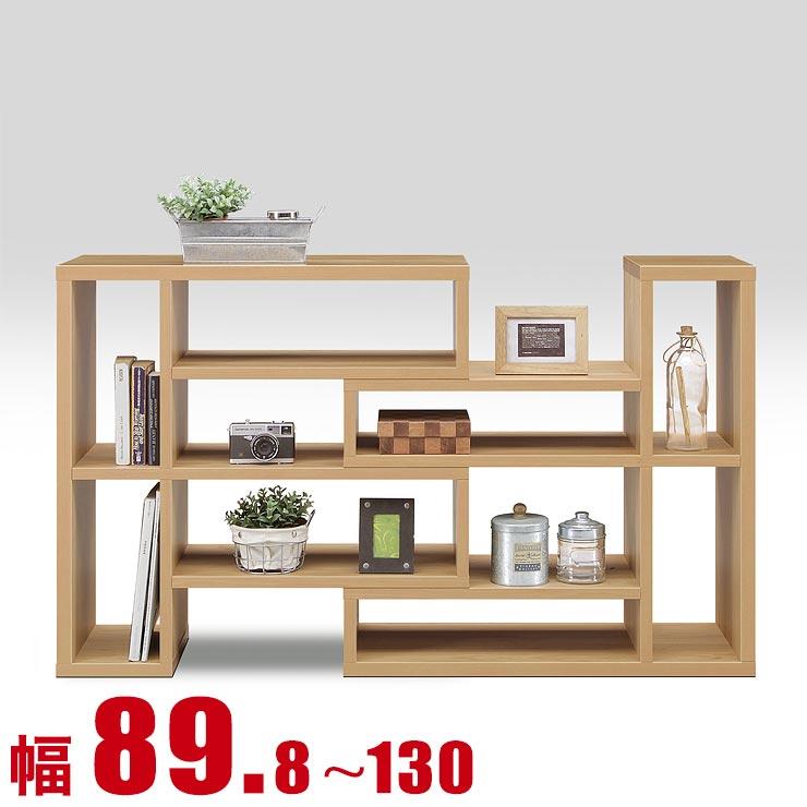 ★ 10 %OFF ★【送料無料/設置無料】 日本製 スライド式シェルフ ロータイプ スティック 幅89.8cm ナチュラル