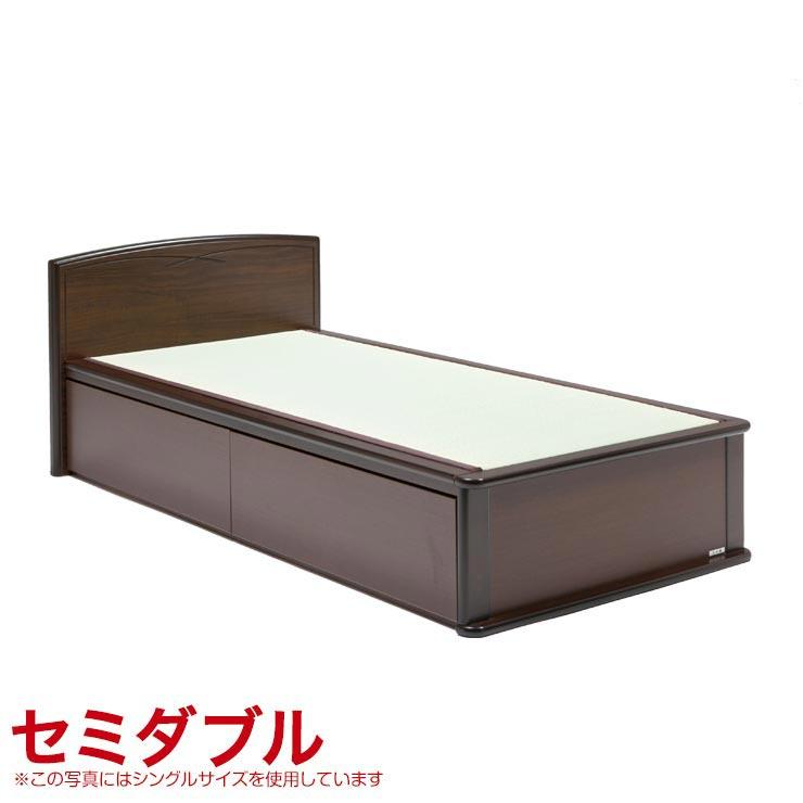 25%OFFクーポン対象+P2倍【送料無料/設置無料】 日本製 森の恵みと職人の技が作り出した純国産畳ベッド ナンシー セミダブル フラットタイプ・引き出し無しい草 棚 すのこ スノコ シンプル ベッド
