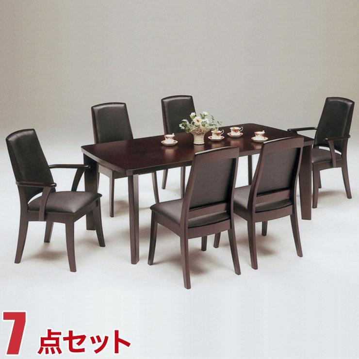 ダイニングテーブルセット 6人掛け ダイニングテーブル 7点セット サム 幅180cmテーブル 椅子6脚 ダイニングセット 完成品 完成品 輸入品 送料無料