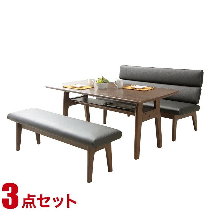 ダイニングテーブルセット 6人掛け おしゃれ モダン リビア リビング ダイニング3点セット 幅160cmテーブル チェア ベンチ 背もたれ 完成品 輸入品 送料無料