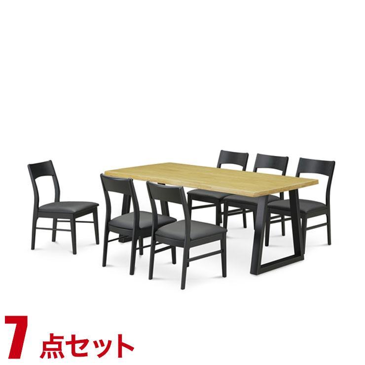 ダイニングテーブル ダイニング シンプル ライズ ダイニング7点セット(180テーブル・チェア6脚) 椅子 食卓 テーブル ラバーウッド無垢 シンプル モダン 新生活 完成品 輸入品 送料無料