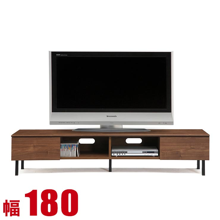 【完成品 日本製 送料無料】 テレビボード ヘナ 幅180 奥行40 高さ38.5 ローボード ブラウン ウォールナット