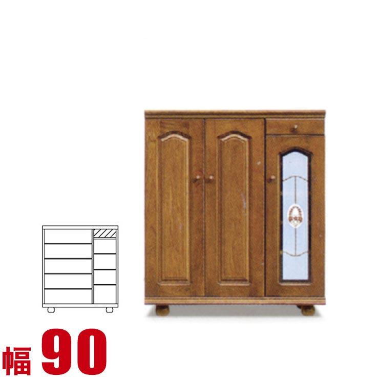【送料無料/設置無料】 日本製 バルボッサ 下駄箱 シューズボックス ロータイプ 幅90cm