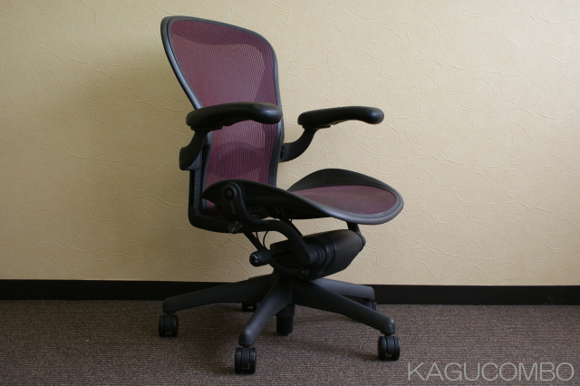 chair with lumbar support. SELL Herman Miller Aeron Chair Lumbar Support Full Equipment B Size Garnet With