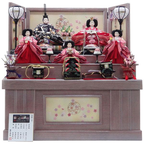 【ポイント最大33倍&お得クーポン】 雛人形 ひな人形 収納飾り雛飾り 節句人形 三段収納飾り 送料無料