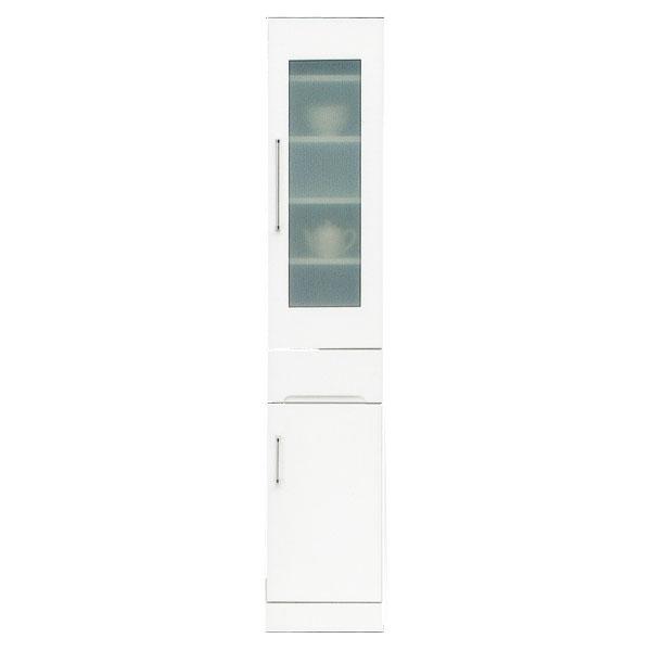 食器棚 隙間家具 スリムボード35cm幅 「クリスタル3」 国産送料無料