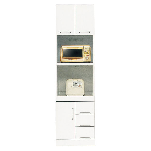 送料無料 開梱設置食器棚 レンジ台 ハイレンジボード50cm幅 「クリスタル3」 国産
