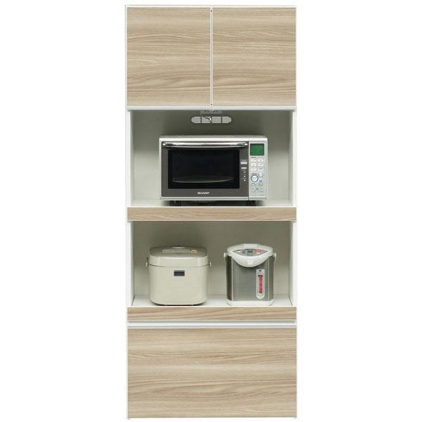 送料無料 開梱設置食器棚 レンジ台 ハイレンジボード75cm幅 「レガリス」 国産