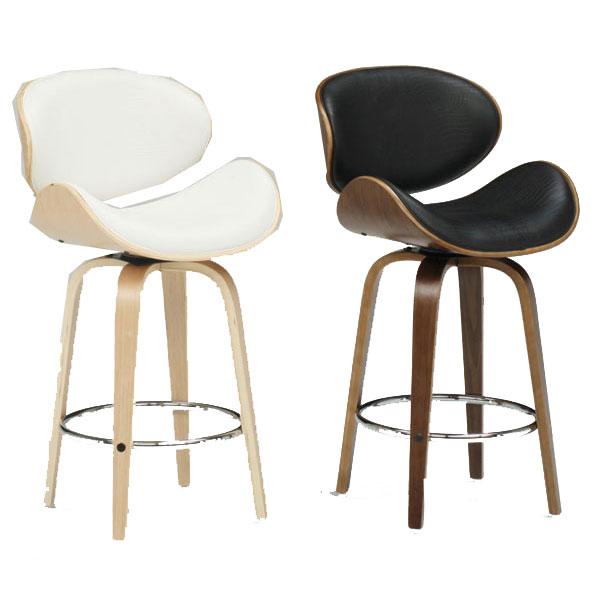 代引き不可 バーチェア カウンター椅子組立品 合成皮革張り2色対応 「ロミオ1076」 送料無料※ブラック色次回入荷未定