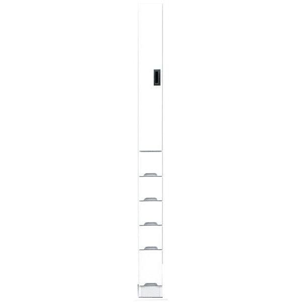 【4/9~ポイント増量&お得クーポン】 食器棚 完成品 隙間家具スリム 上板扉 下引出し15cm幅 ホワイト 「スペース15B」送料無料