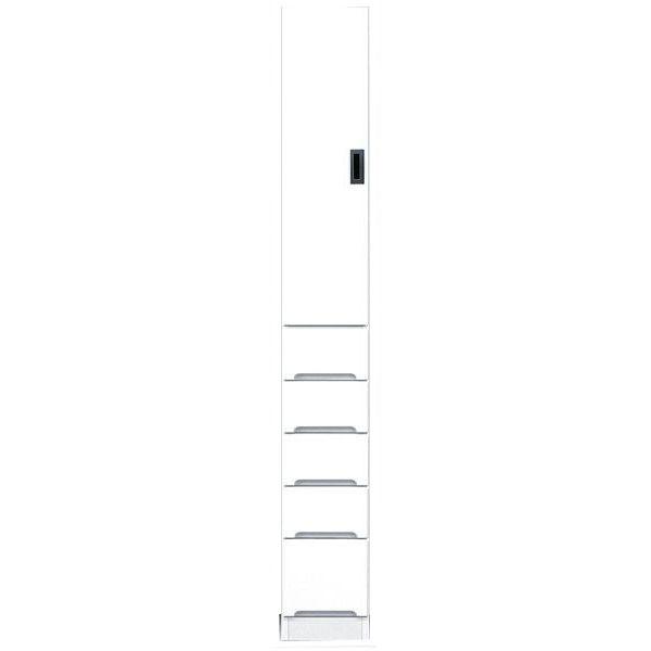 食器棚 完成品 隙間家具スリム 上板扉 下引出し25cm幅 ホワイト「スペース25B板扉」 送料無料