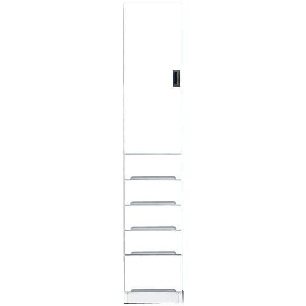食器棚 完成品 隙間家具スリム 上板扉 下引出し35cm幅 ホワイト 「スペース3 35B」送料無料