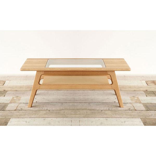 【ポイント増量&お得クーポン】 送料無料 開梱設置テーブル センターテーブルオーク 完成品 国産「シクロ112cm」
