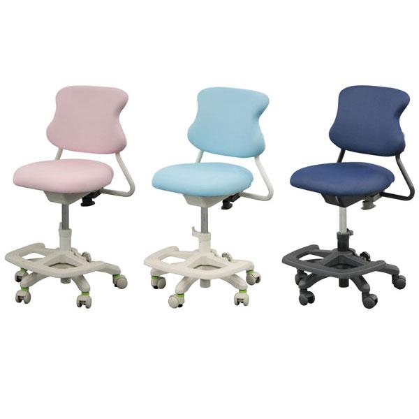 【ポイント増量&お得クーポン】 学習イス 学習チェア 回転 椅子 2020年度モデル VP-219 ガス圧昇降式カラー3色 ネイビー ライトブルー ピンク送料無料