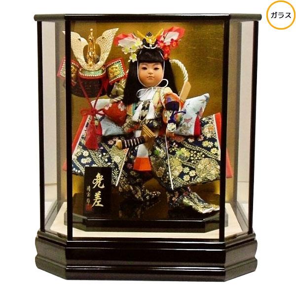 わらべ人形 ケース飾り 五月人形 五月飾り童人形 節句人形 端午の節句 7号 武者人形