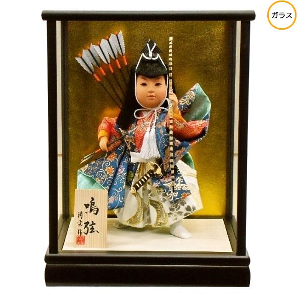 わらべ人形 ケース飾り 五月人形 五月飾り童人形 節句人形 端午の節句 5号 武者人形 変型
