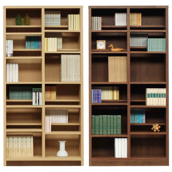 本棚 書棚 ブックシェルフ コミックシェルフハイタイプ 日本製 90cm幅 2色対応 イフ【代引不可商品】