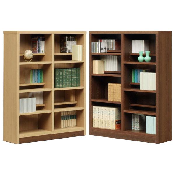 本棚 書棚 ブックシェルフ コミックシェルフロータイプ 日本製 90cm幅 2色対応 イフ【代引不可商品】