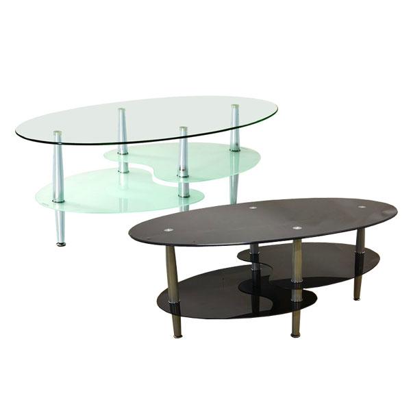 【ポイント増量&お得クーポン】 センターテーブル リビングテーブルガラステーブル 2色対応 バスター2【代引不可商品】