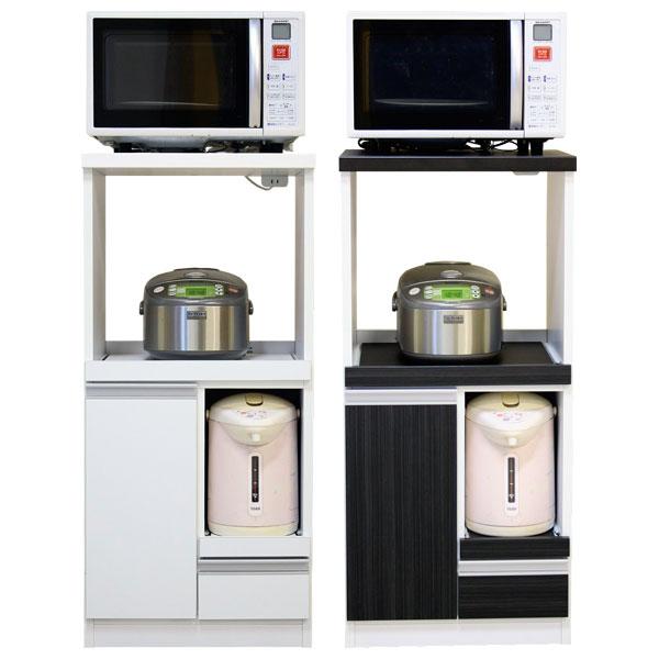 キッチン収納 レンジ台 レンジボード 日本製2色対応 48コンパクトレンジ台 シード【代引不可商品】