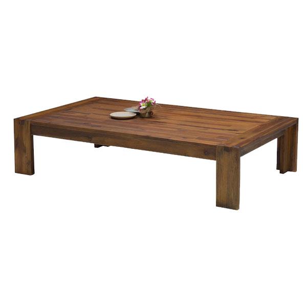 【ポイント増量&お得クーポン】 テーブル 座卓 ローテーブル組立品 ダメージ仕上げ120cm 送料無料