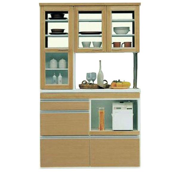 両面食器棚120cm幅完成品 国産送料無料 開梱設置