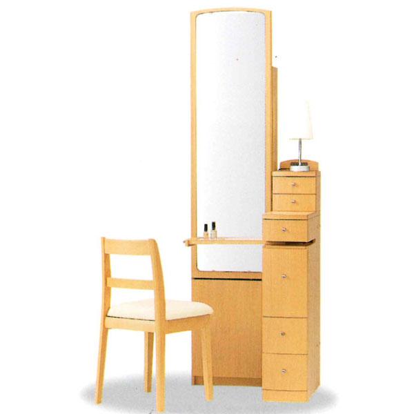 【開梱設置】 ドレッサー 化粧台 鏡台 姿見国産 収納イス付 2色対応「シーレイ2」 19一面収納
