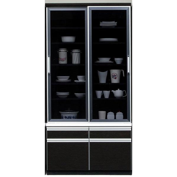 食器棚 完成品 ダイニングボード引き戸 100cm幅開梱設置 送料無料 「響」