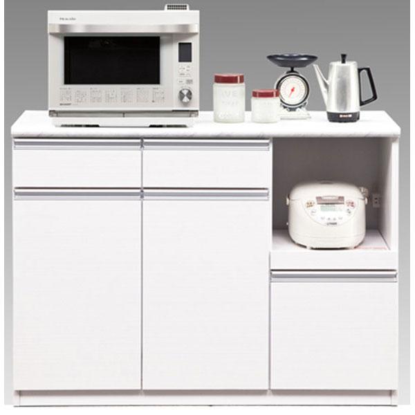 キッチンオープンカウンター 完成品 120cm幅 「メアリー」開梱設置 送料無料