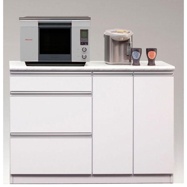 カウンター キッチンカウンター 完成品120cm幅 「カラー」引き出しタイプ 開梱設置 送料無料