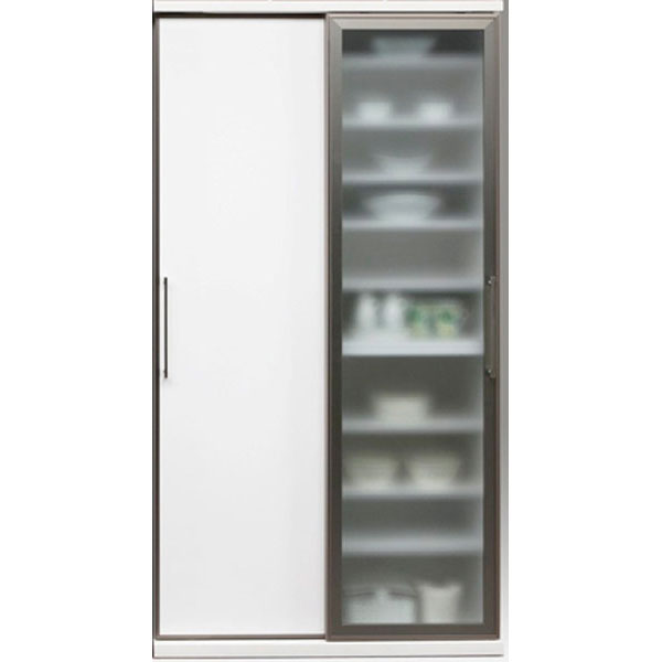 食器棚 引き戸 完成品ダイニングボード 120cm幅国産 「サマンサ」 開梱設置 送料無料