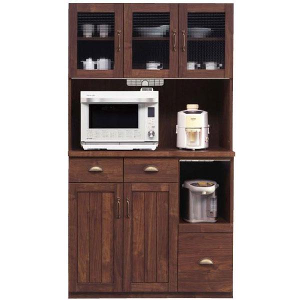 \ポイント増量&お得クーポン/レンジボード オープン食器棚「カルティエ」 100cm幅開梱設置 送料無料