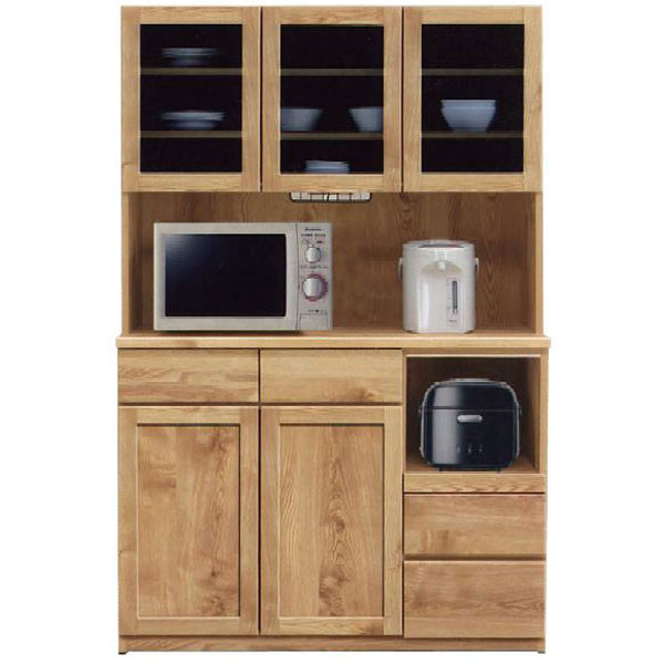 キッチンボード レンジボード 食器棚「チャトラ」 120cm幅 2色対応 開梱設置 送料無料