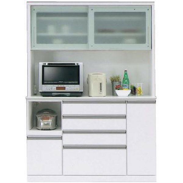 キッチンボード レンジボード 食器棚「フェイス」 140cm幅 2色対応 開梱設置 送料無料 ※WH入荷未定
