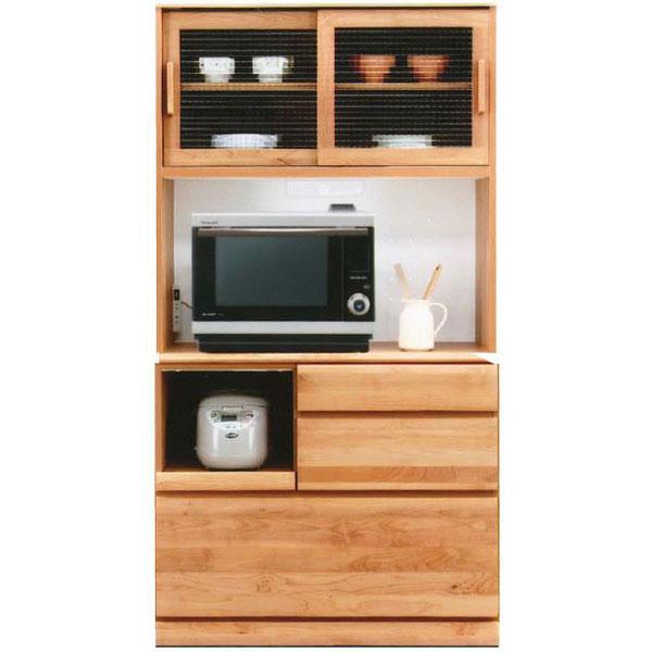 レンジボード オープン食器棚「フレスコ」 100cm幅 カラー対応2色開梱設置 送料無料