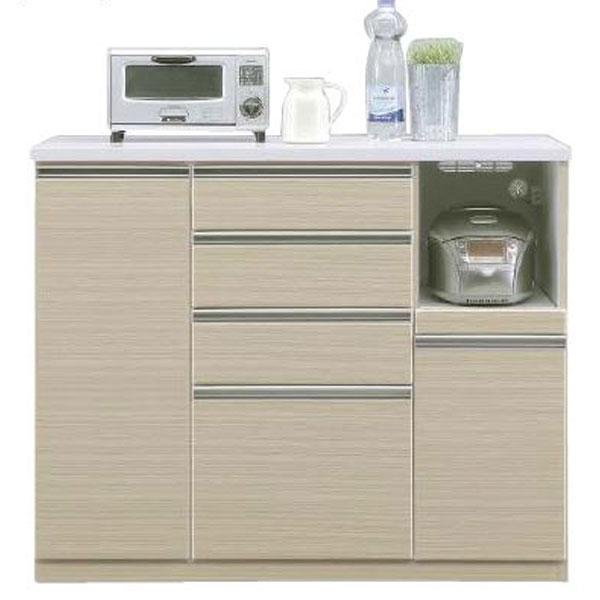 【4/9~ポイント増量&お得クーポン】 キッチンカウンター「ヘリオス」 120cm幅 3色対応 開梱設置送料無料