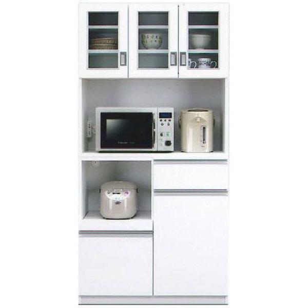キッチンボード オープン食器棚「キッド」 90cm幅 カラー対応2色開梱設置送料無料