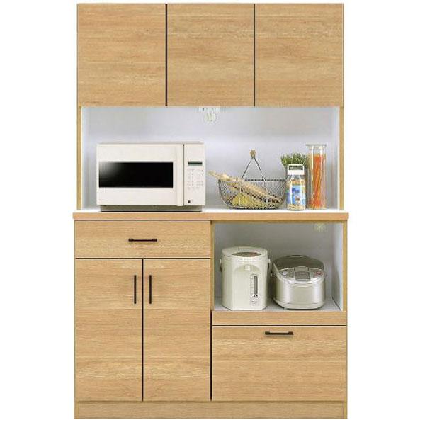 キッチンボード オープン食器棚「きざし」 120cm幅 カラー対応2色開梱設置送料無料