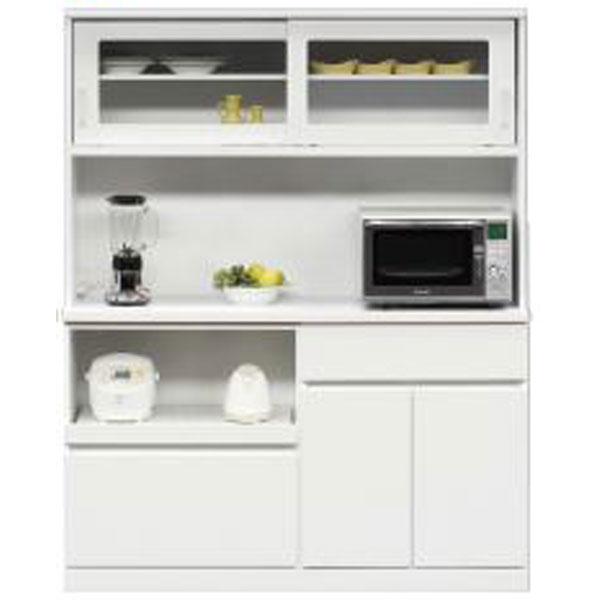 【4/9~ポイント増量&お得クーポン】 キッチンボード レンジボード 食器棚「オセロ」 150cm幅 2色対応 開梱設置 送料無料