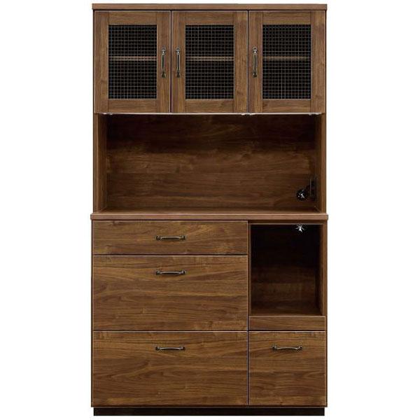 レンジボード オープン食器棚「レトロ」 105cm幅開梱設置 送料無料