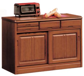 【ポイント増量&お得クーポン】 カウンターワゴン キッチンカウンターカウンター 120cm幅 「トラッド」開梱設置 送料無料