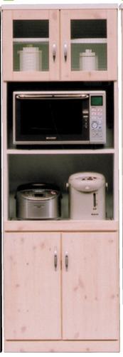 国産 カラ-対応2色 【バニラ】60cm幅 ハイタイプ収納 レンジ台送料無料 開梱設置