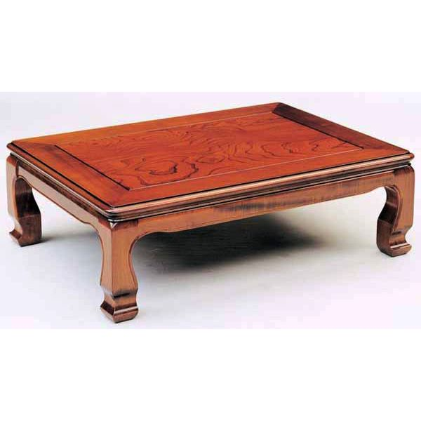 ケヤキ テーブル 座卓「天草」 90cm幅 国産送料無料