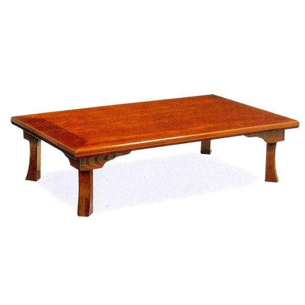テーブル 折脚 セン突板 座卓完成品 「綾部」 120cm幅国産 送料無料