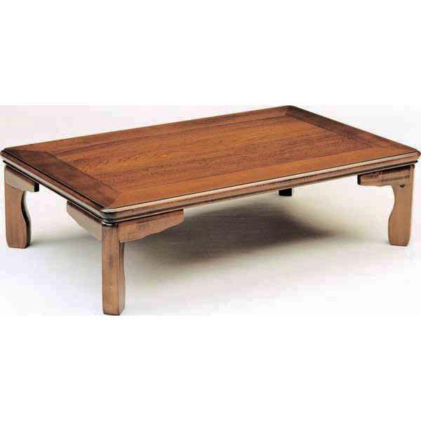 テーブル 座卓 折脚セン突き板 「らん」 105cm幅送料無料