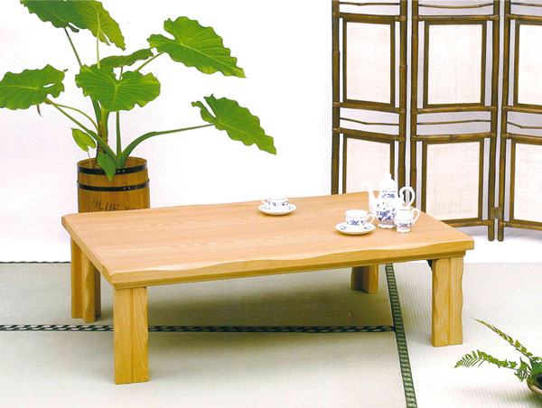 【ポイント増量&お得クーポン】 テーブル 座卓 「リザーブ」 120cm幅国産 折れ脚 送料無料