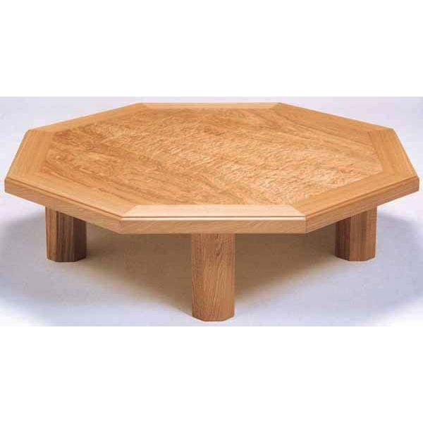 送料無料 開梱設置座卓 応接台 テーブル 八角「八雲」 120cm幅 国産