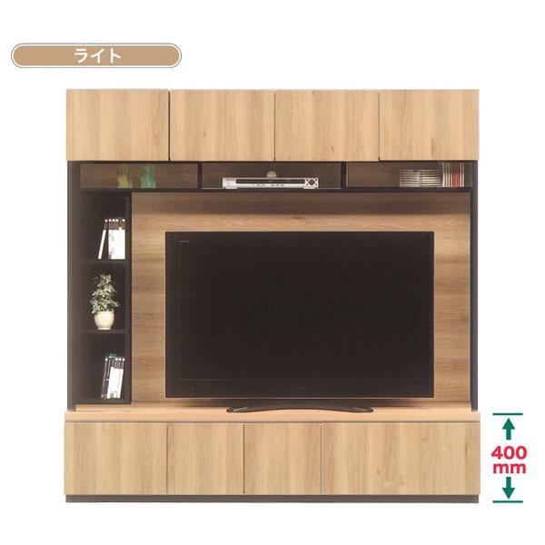 テレビボード 80cm幅 ハイタイプ(壁面) テレビ台 1AV機器3台収納 2色対応 国産 開梱設置・送料無料